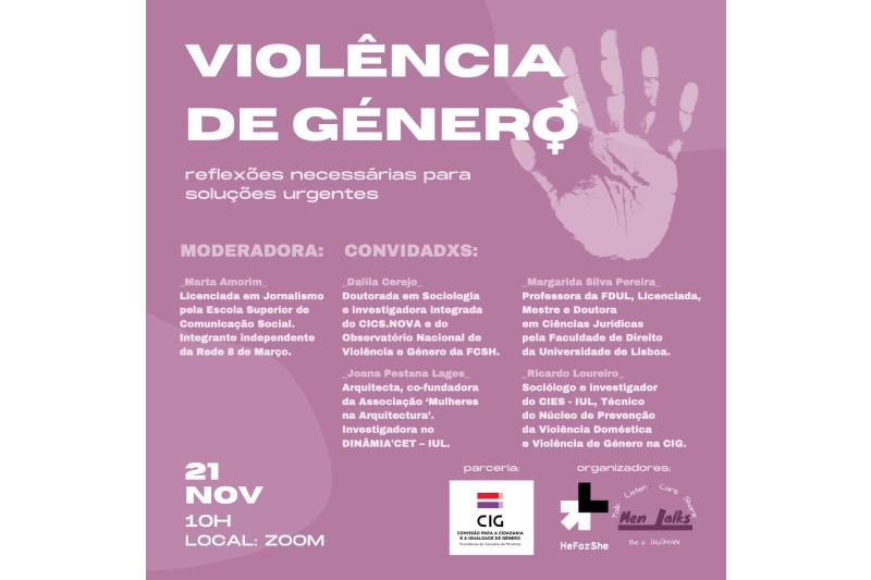 """""""A culpa foi do machismo, não do bairro"""" – um apelo contra a violência de género"""