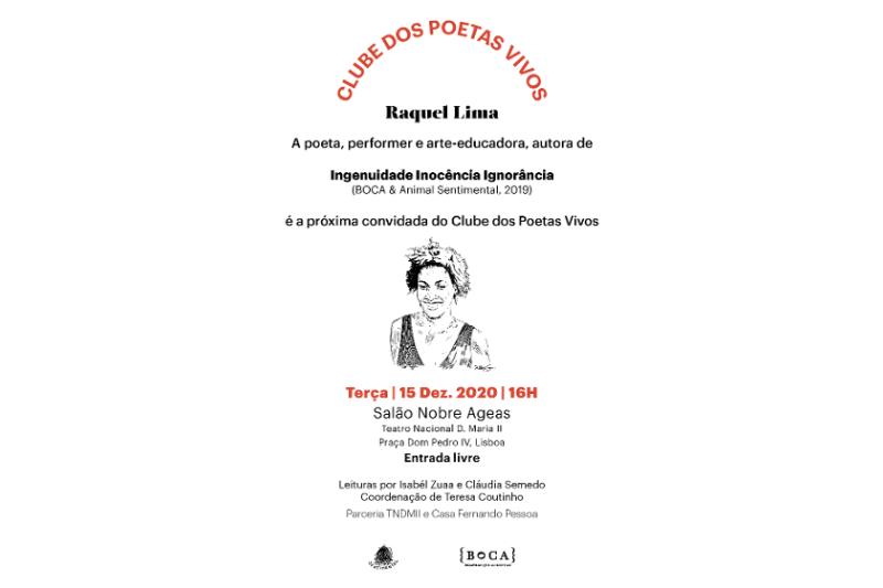 Ao encontro da poesia de Raquel Lima, no Teatro Nacional D. Maria II