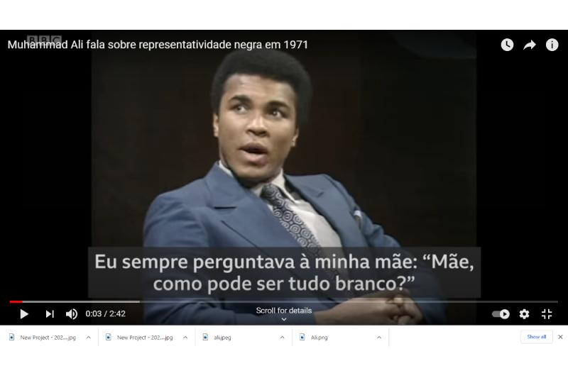Uma reflexão de Muhammad Ali sobre a falta de representatividade negra