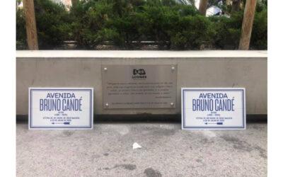 """""""Avenida Bruno Candé"""" descerrada, em dia de homenagem mural e musical"""