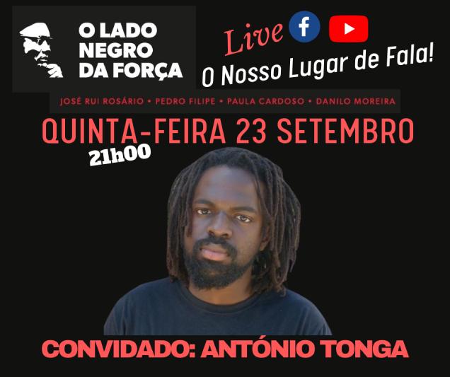 Em Luta e com Consciência Negra, António Tonga tem na acção resistência